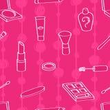 Kreskówka kosmetyków Bezszwowy tło ilustracja wektor