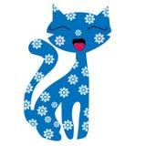 Kreskówka kot w kwiacie Obrazy Royalty Free
