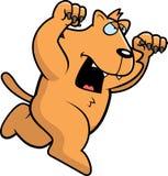 Kreskówka kota napadanie Zdjęcia Royalty Free