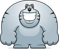 Kreskówka kota ono Uśmiecha się Obraz Royalty Free