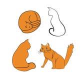 Kreskówka koty obrazy stock