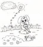 Kreskówka królika mienia marchewka Obrazy Stock