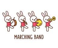 Kreskówka królika orkiestra marsszowa ilustracji