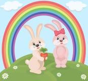 Kreskówka króliki ilustracji