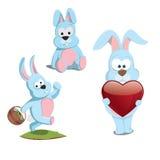 Kreskówka króliki Obrazy Royalty Free