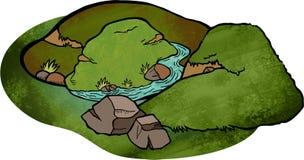 Kreskówka krajobraz Zdjęcie Royalty Free