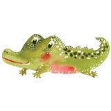 Kreskówka krokodyl royalty ilustracja