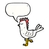 kreskówka kurczak Obrazy Royalty Free