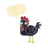 kreskówka kurczak z mowa bąblem Zdjęcie Royalty Free
