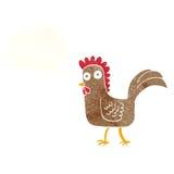 kreskówka kurczak z myśl bąblem Fotografia Royalty Free