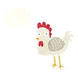 kreskówka kurczak z myśl bąblem Fotografia Stock