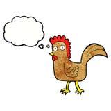 kreskówka kurczak z myśl bąblem Obraz Royalty Free