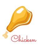 Kreskówka kurczaka noga Obraz Stock