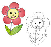 kreskówka kwiat Obrazy Royalty Free