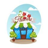 Kreskówka kwiatu sklep Royalty Ilustracja