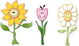 kreskówka kwiaty Obrazy Royalty Free