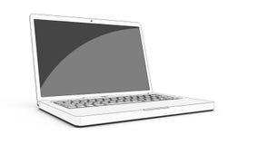 Kreskówka laptop odizolowywał 3 Zdjęcie Stock