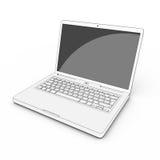 Kreskówka laptop odizolowywający Obraz Stock