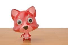 Kreskówka lis czyta książkę, 3D ilustracja Fotografia Royalty Free