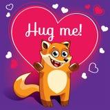 Kreskówka lis przygotowywający dla przytulenia Fotografia Royalty Free