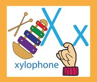 kreskówka listowy x anglicy twórcze alfabet ABC pojęcie Szyldowy język i abecadło royalty ilustracja