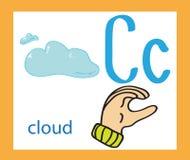 kreskówka listowy c anglicy twórcze alfabet ABC pojęcie Szyldowy język i abecadło royalty ilustracja