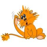 Kreskówka lwa chrobotliwy ciało Zdjęcie Stock