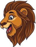 Kreskówka lwa głowy ono uśmiecha się ilustracja wektor