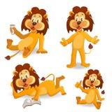 Kreskówka lwy Zdjęcia Stock