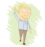 kreskówka mężczyzna falowanie Obrazy Royalty Free