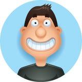 Kreskówka mężczyzna Latynoski ono Uśmiecha się ilustracji