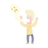 kreskówka mężczyzna posiadający duchem Zdjęcia Stock