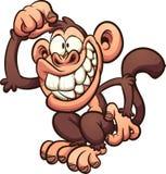 Kreskówka małpi chrobot swój głowa Obraz Stock