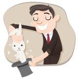 Kreskówka magika ciągnięcia królik Zdjęcie Royalty Free