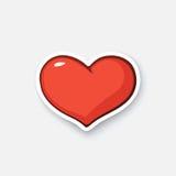 Kreskówka majcheru serce Zdjęcie Royalty Free