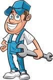 Kreskówka mechanika mężczyzna Fotografia Royalty Free