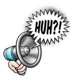 Kreskówka megafonu mowy bąbel Zdjęcie Stock