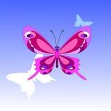 Kreskówka motyl Obrazy Stock