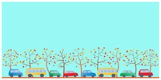 Kreskówka multicolor samochody Obrazy Stock