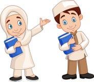 Kreskówka muzułmanina dzieciaki royalty ilustracja