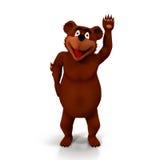 Kreskówka niedźwiedź na Białym tle Zdjęcie Royalty Free