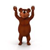 Kreskówka niedźwiedź na Białym tle Obraz Stock