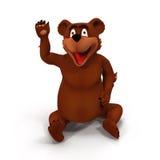 Kreskówka niedźwiedź na Białym tle Obraz Royalty Free
