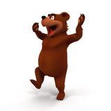 Kreskówka niedźwiedź na Białym tle Zdjęcia Royalty Free