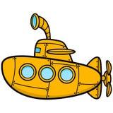 Kreskówka okręt podwodny ilustracja wektor