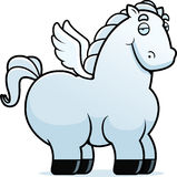 Kreskówka Oskrzydlony koń Obraz Royalty Free