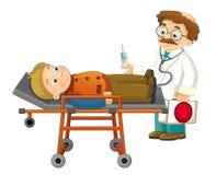 Kreskówka pacjent i - Obrazy Stock