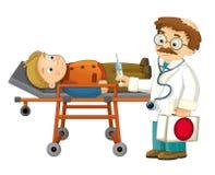 Kreskówka pacjent i - Zdjęcie Stock
