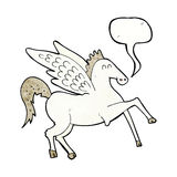 kreskówka Pegasus z mowa bąblem Obraz Royalty Free