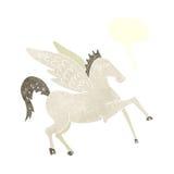 kreskówka Pegasus z mowa bąblem Fotografia Royalty Free
